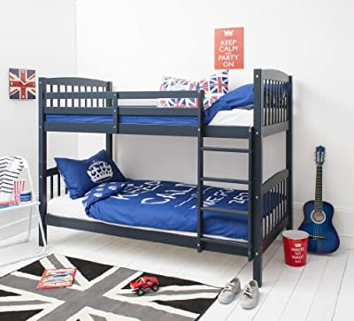 Bunk Bed Wooden Single Navy Blue Can be split into 2 singles Brighton