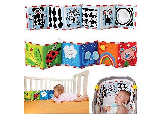 VWH Baby-Tuch-Buch Infant Intelligence Development Spielzeug Bett cognize Bücher