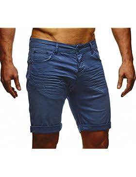LEIF NELSON Herren Jeans Shorts LN1398