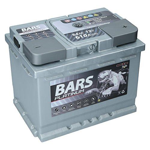 Autobatterie 12V 64Ah 610A Bars Platinum Starterbatterie Wartungsfrei