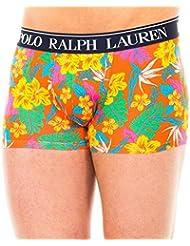 Tronc De Polo Ralph Lauren Tropical Floral Print Hommes Boxer, Orange/multi