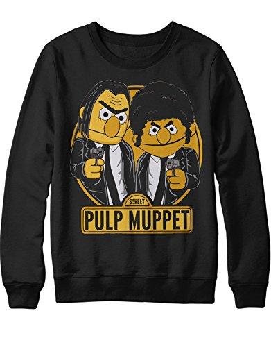 Sweatshirt Vincent Vega Jules Winnfield Mashup C123458 Schwarz L (Herren Gonzo Kostüm)