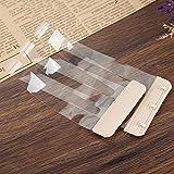 Anjing 4PCS Rutschfest Elastic Schnalle Soft-BH Extender 3Haken Verlängerung Gurt Transparent Skin
