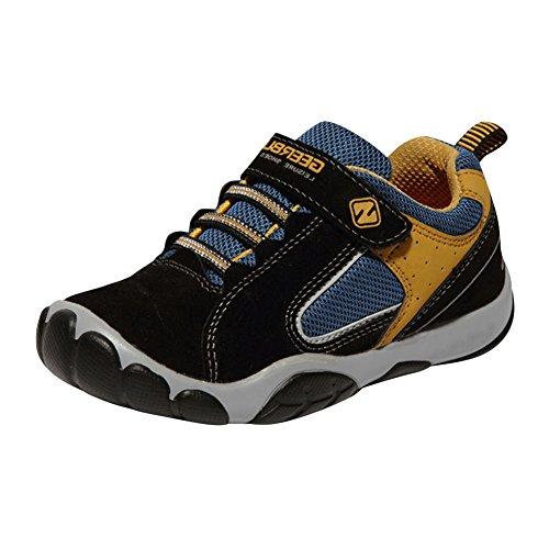 SaiDeng Beiläufig Unisex Kinder Sportschuhe Sneaker Laufschuhe Outdoor Schuhe Rutschfeste Schwarz
