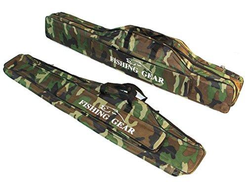 Angeltasche Rutentasche Rutenfutteral Angelkoffer Anglertasche Tasche (tasche2fach), Länge:130cm