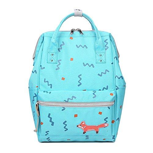 WanYang Fashion Zainetto Zaino in Tela Backpack Tasca Dentro Libro Borse Zaino per le Ragazze Zaino Cielo Blu