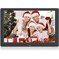Arolun Cornice Digitale 10 Pollici, Cornice Digitale con Schermo IPS 1280x800 HD 16:10, Funzione per Foto/Video/Musica/Calendario/Allarme, Supporto per USB, Schede SD e Telecomando (nero)