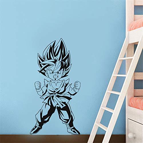 supmsds Ricoverato d'urgenza del Fumetto Adesivi murali Saiyan Vinile per la casa dei Bambini in Camera da Parati Rimovibile Sticker 58 X 105 CM