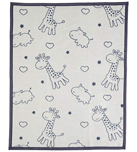 lingsdecke/Kuscheldecke/Krabbeldecke/Spieldecke, Giraffe-Hippo, Baumwollmischgewebe, 75x100 cm, 450 gr/cm² ()