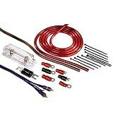 Hama Anschluss-Set für Car Hifi-Verstärker (AMP-Kit mit Powerkabeln (35 mm²), Cinchkabel, Sicherungshalter, Sicherung, Gabelkabelschuhen und Kabelbinder)