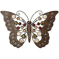 """Wand-Objekt /""""Schmetterling/"""" Wanddekoration Wandbild Metall H 116 cm Wandrelief"""
