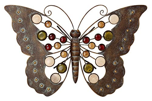 Wandobjekt Schmetterling aus Metall
