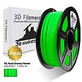 3D Warhorse 3D Filament, ABS 3D Printer Filament 1.75mm, 1KG Spool(2.2lbs),3D Printing Filament Dimensional Accuracy +/- 0.02mm-Bonus with 5M PCL Nozzle Cleaning Filament(Green)