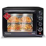 Mini Backofen 35L mit 2x Backblech, Grillofen inkl. elektrischer Drehspieß, Pizza-Ofen mit Innenbeleuchtung, Umluft & Timer...