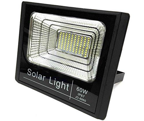 Bed Store® Faro faretto a led con pannello solare da esterno IP67 con telecomando con timer 10w 25w 40w 60w 100w 200w (60)