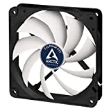 ARCTIC F12 PWM PST-120 mm PWM PST Case Fan, Silent Cooler with Standard Case, PST-Port, Regulates RPM in sync, Fan Speed: 203-1350 RPM, Black/White, F12 Series