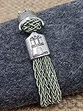 HAMBURGarmband mit Anker schilfgrün; Partnerarnband oder tolles Hamburg Souvenir