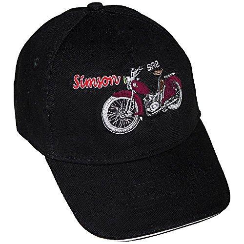 Preisvergleich Produktbild Baseballcap mit Einstickung - Simson SR2 rot - 68510/1
