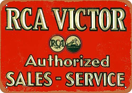 Tiukiu RCA Victor Sales & Service Vintage Metal Sign (Rca Dog Victor)