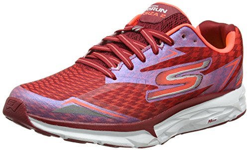 Skechers Go Run Forza 2017, Chaussures Multisport Outdoor Homme Rouge (Red)