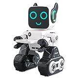 JJRC R4 RC Robot[2018],Beetest® Giocattolo Robotico Radiocomandato Telecomandato Intelligente Programmabile Robot [RC Control Azione del Sensore di Gesto],USB Ricarica Robot con Cantando/Danza Bianco