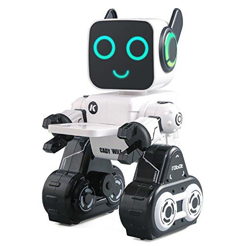 Roboter für Kinder,BEETEST JJRC R4 Wealth Management Einsparungen intelligente Roboter / drei Steuermodus / Smart-Programmierung / Lied und Tanz Tiere / LED Gläser Ohrstöpsel / Kinder beste Geburtstagsgeschenk Weiß