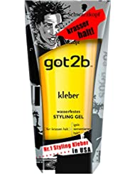 Got2b kleber wasserfestes STYLING GEL, 3er Pack (3 x 150 ml)