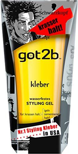 Got2b kleber wasserfestes STYLING GEL, 3er Pack (3 x 150 ml)