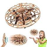 Joy-Jam Cadeaux pour Garçons 4-8 Ans Balle Volante Mini Drones pour Enfants Mini UFO Jouet Volant Hélicoptère Télécommandé Jeux pour Enfants Doré