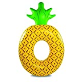 Giant Inflatable Pineapple Ring, Pool Float Toys for Beach, Pools and Lounge Party for Adults and Kids