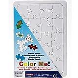 Blanko Puzzle A5 mit Legerahmen zum selbst bemalen, 20 Teile