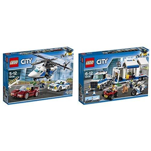Lego City 60139 - Mobile Einsatzzentrale, Bausteinspielzeug + Rasante Verfolgungsjagd, Bausteinspielzeug