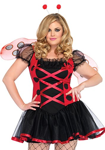 Leg Avenue 83652X - Lovely Lady Bug Kostüm Set, Größe 44, schwarz/rot (Fashion Bug Halloween Kostüme)