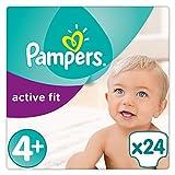 Pampers Active Fit Gr.4+, 9-18kg, 24 Windeln, 4er Pack (4 x 24 Stück), 1 Packung = 1 Impfdosis