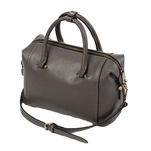Leder Handtasche Messenger Bag Umhängetasche Handtasche Ledertasche Einfache Atmosphäre Lässige Mode Haar Grey