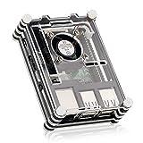 Camac Gehäuse Case für Raspberry Pi 3 Model B/ Raspberry Pi Model B 2 / RPB + 9 Schichten PiBow Fall-Kasten Geschnitten mit Cooling Fan