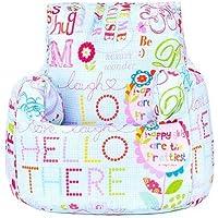Preisvergleich für Ready Steady Bed Hallo ES Print Kinder, die Bereit gefüllt Fun Sitzsack Sitzkissen Kinder Möbel