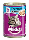 Whiskas Dose Adult 1 plus mit Thunfisch in Terrine, 400 g
