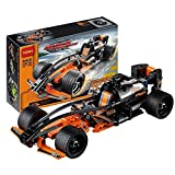 #10: Black Champion Racer Pull Back Technic Car Building Blocks - 137 pcs