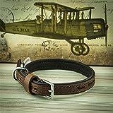 National Engraver Personalisierte Luxus-Hundehalsbänder mit Leinen | Ancol Vintage Leather - Gepolsterter Kragen