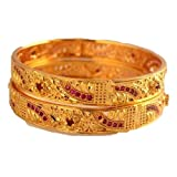 Radha's Creations Ruby bangles Kerala bangles for women and girls patli size 2/6