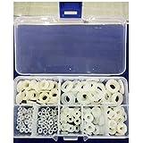 Tily blanco plástico redondo Arandela plana junta Seal ring350pcs M2M2,5M3M4M5M6M8