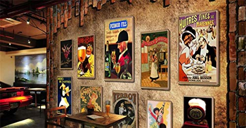Tapete benutzerdefinierte Mural 3D Ziegelstein Mural Weinkellerei Club Thema Hotel Bar Buffet Restaurant Esszimmer Hintergrund Retro Poster Tapete Mural -