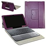 ASUS T102HA / Transformer Mini T102HA Coque,Mama Mouth 2-in-1 Détachable PU Cuir debout Fonction Housse Coque Case Étui Couverture Pour 10.1' ASUS Transformer Mini T102HA Windows 10 Convertible Laptop Tablet,Violet