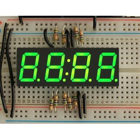 Green 7-segment clock display - 0.56 digit