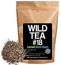 Lemon Balm Loose Leaf Herbal Tea, Organic Mediterranean Lemon Balm Leaves, Wild Tea #18 Lemon Balm Calm by Wild Foods (2 ounce)