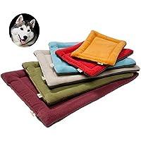 YouthUnion Colchoneta Cama para Mascota, Almohada Invierno Lavable Higiénica Suave para Perros Gatos Caliente Cálida (L, Azul)