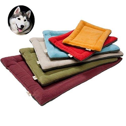 Youth Union Hundematte Hundekissen Waschbar Hygienisch, Hundedecke Schlafplatz Matte für Hunde Katzen Haustier Teppich Bettkissen aus Fleece Warm Weich Gepolstert (XL, Grün) -