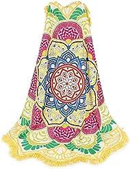 honeysuck Mandala Lotus Yoga Mat Toalla de playa manta