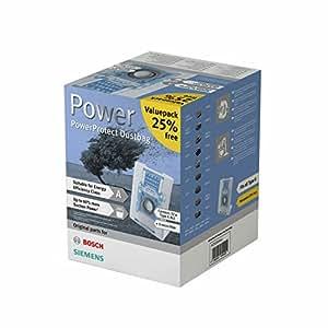 Siemens VZ123GALL Staubsaugerbeutel PowerProtect Type G Allfür alle aktuellen Baureihen, außer VS08, VS01 [Altes Modell]